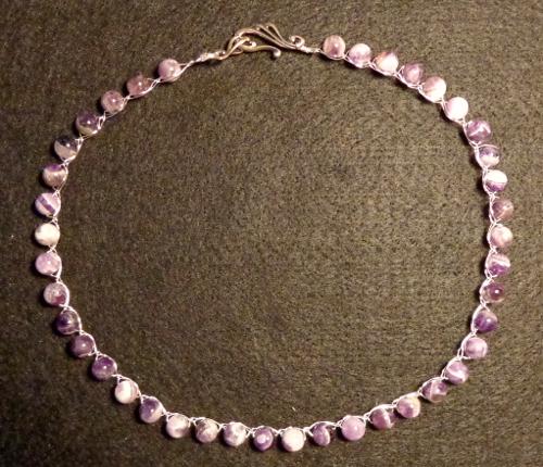 Amethyst necklace made by Deborah Cooke