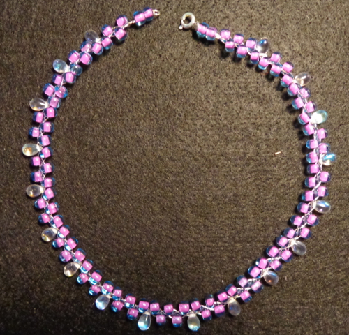 Bead necklace made by Deborah Cooke