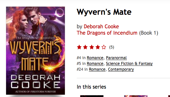 Wyvern's Mate at Kobo on January 7, 2017