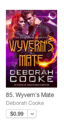 Wyvern's Mate on the top 100 bestselling romance list at Apple on January 7, 2017