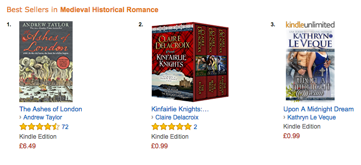 Kinfairlie Knights at Amazon UK January 9, 2017