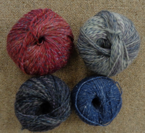 Yarn choices for Wilhelmina knit by Deborah Cooke