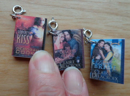 Book Charms made by Deborah Cooke