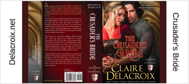 The Crusader's Bride by Claire Delacroix minibook slipcover
