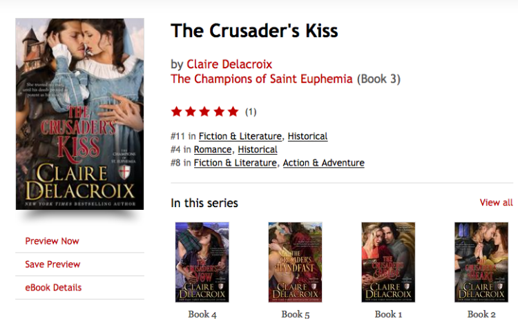 The Crusader's Kiss by Claire Delacroix at Kobo on February 20, 2017