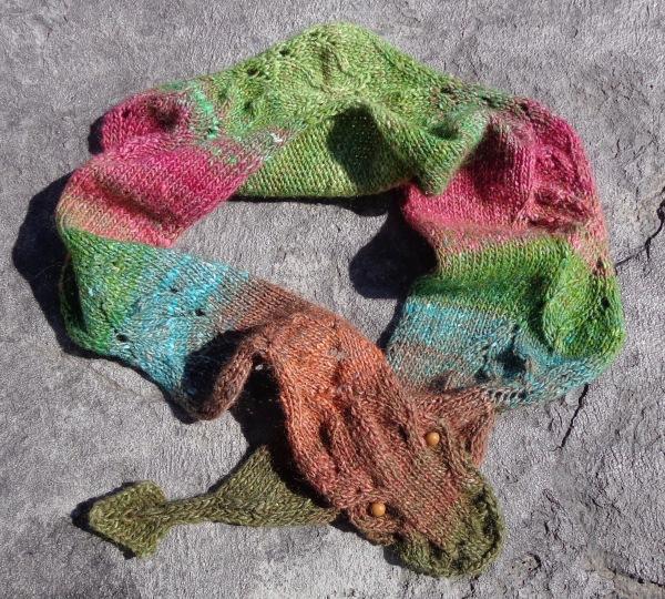 Dragon's Tale scarf knit by Deborah Cooke