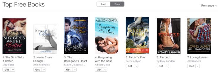 The Renegade's Heart, #3 in Romance at iBooks on April 26, 2017