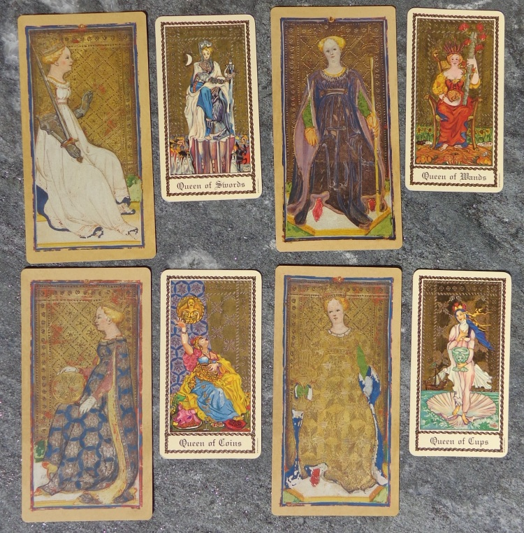 Two tarot decks compared - the Queens