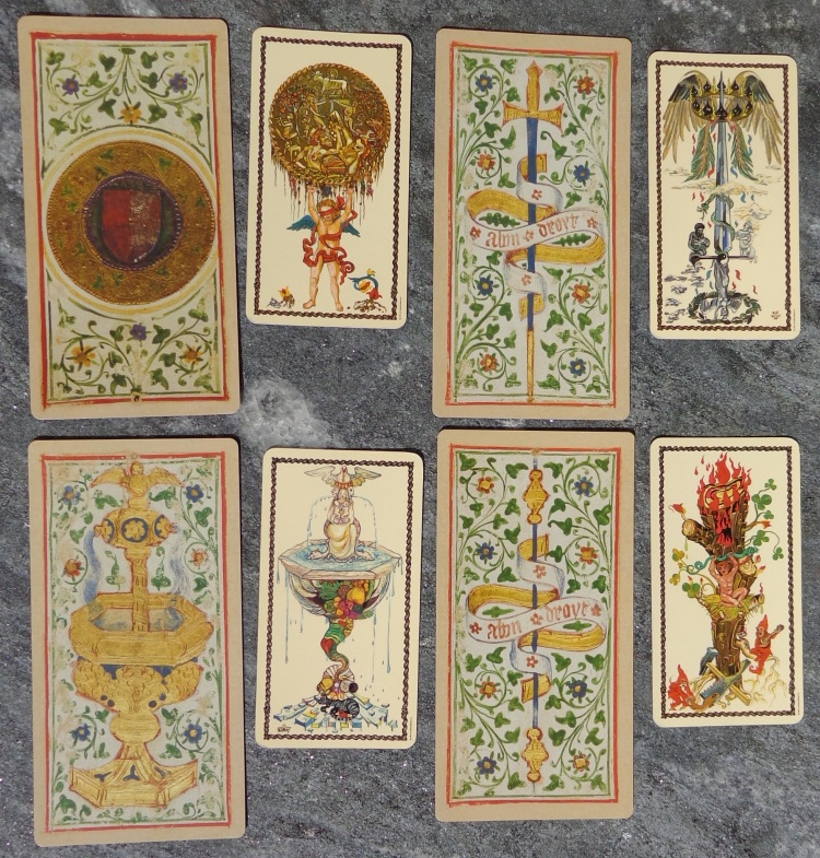 Two tarot decks compared - the Aces