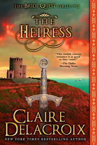 The Heiress, book #3 of the Bride Quest series of medieval romances by Claire Delacroix