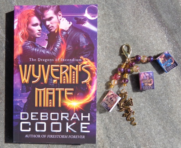 Dragons of Incendium series key fob made by Deborah Cooke