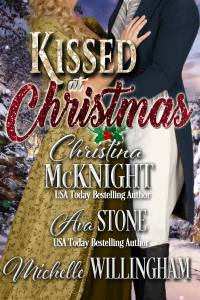 Kissed at Christmas, a Regency romance anthology and part of the Christmas at Castle Keynor series