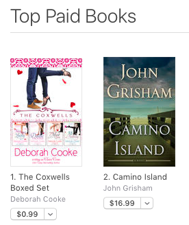 The Coxwells Boxed Set by Deborah Cooke, #1 paid title at iBooks on June 15, 2017