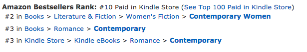 The Coxwells Boxed Set by Deborah Cooke at #10 overall in the Amazon.ca store