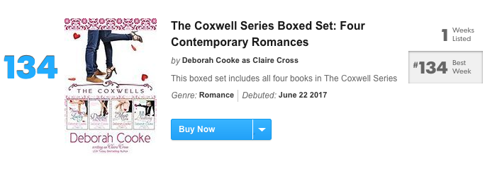 The Coxwells Boxed Set on the USA Today bestseller list June 2017