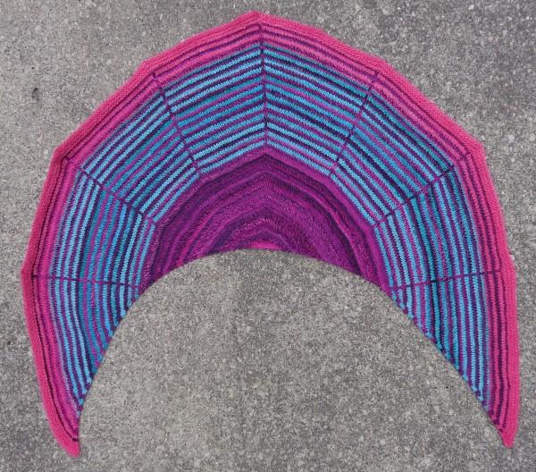 Daybreak shawl knit by Dborah Cooke