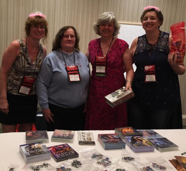 Knights vs. Dragons at RTC2017 with Sharon Page, Mary Ann Abraham, Deborah Cooke (aka Claire Delacroix) and Amy Ruttan
