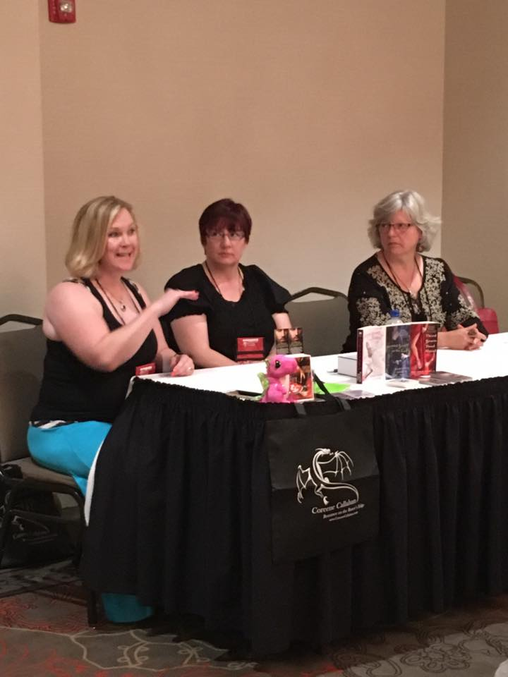 Negotiating with Agents panel at RTC2017 with Coreene Callahan, Darynda Jones and Deborah Cooke