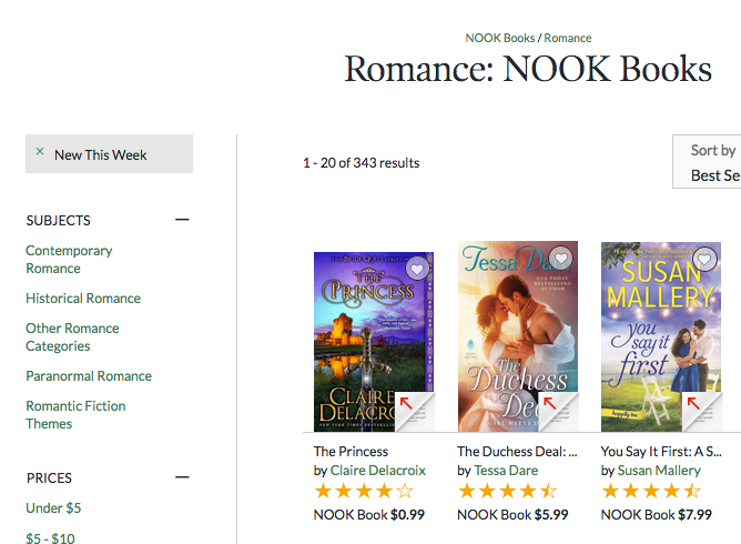 The Princess by Claire Delacroix, #1 bestselling title in Romance at Nook on August 26, 2017