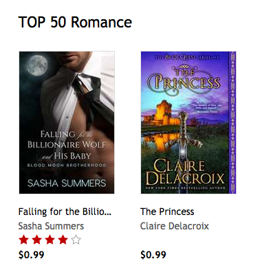 The Princess, a medieval romance by Claire Delacroix, #2 bestselling title in Romance at Kobo on August 26, 2017