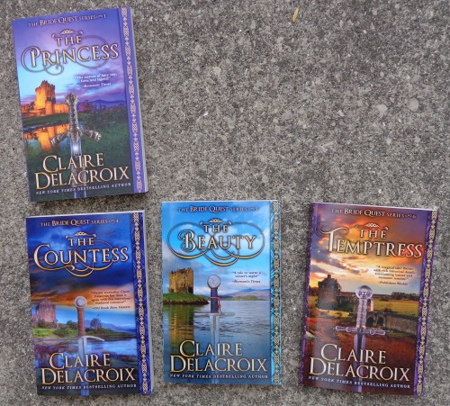 The Bride Quest series of medieval romances by Claire Delacroix in their new print editions