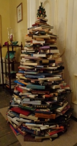 Completed book tree built by Deborah Cooke 2017