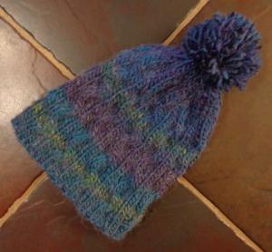 Serpentine Hat knit by Deborah Cooke