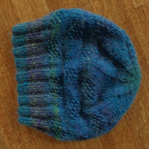 Slouchy hat in Premier yarns Appalachia knit by Deborah Cooke
