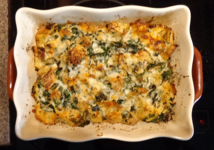 Two Cheese Vegetable Strata