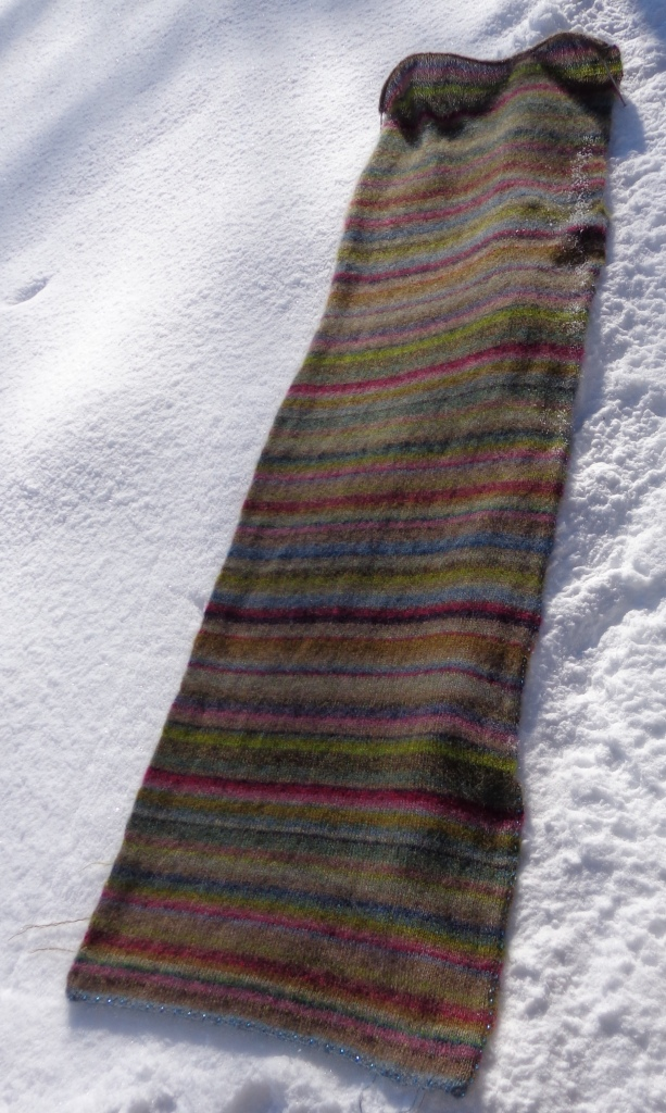 Earth Stripe Wrap knit by Deborah Cooke