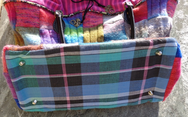 Upcycled Noro Tote Bag by Deborah Cooke