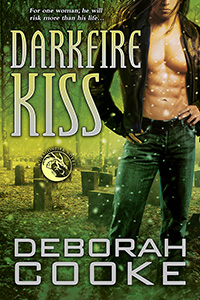Darkfire Kiss, #7 of the Dragonfire Novels, a series of paranormal romances by Deborah Cooke