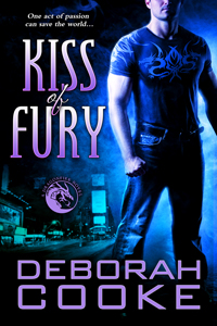 Kiss of Fury, #2 of the Dragonfire Novels, a series of paranormal romances by Deborah Cooke