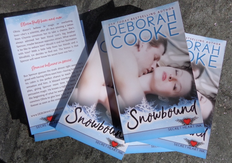 Snowbound, book #1 of the Secret Heart Ink series of contemporary romances by Deborah Cooke, in its print edition