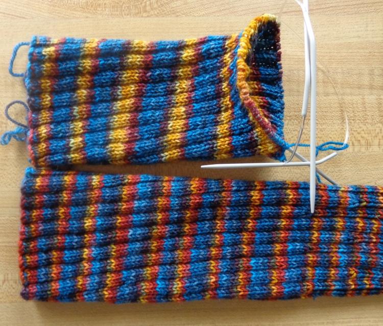 Fleece Artist knee socks knit by Deborah Cooke