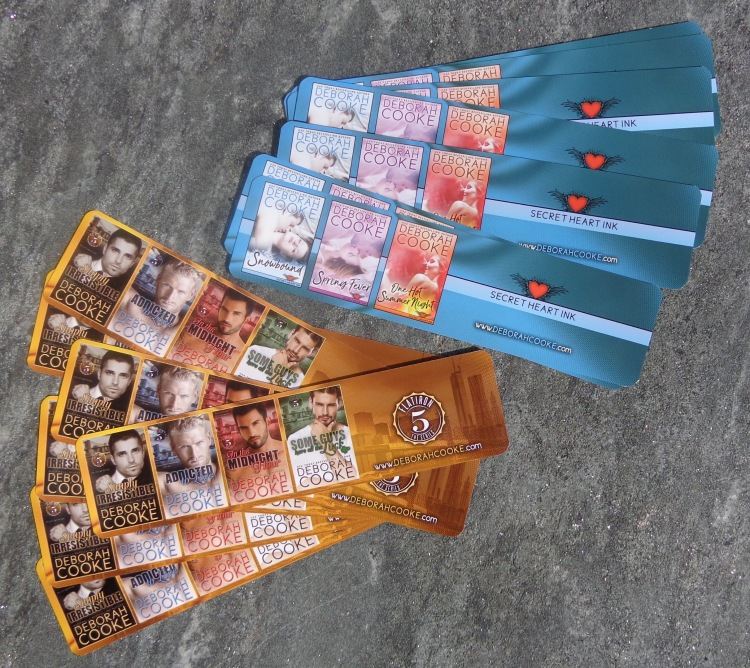 bookmarks for the Flatiron Five series of contemporary romances by Deborah Cooke