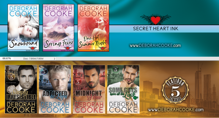 Flatiron Five bookmark, showing the series of contemporary romances by Deborah Cooke