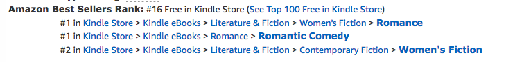 Double Trouble, a contemporary romance by Deborah Cooke, at #16 overall in the Kindle store on April 19, 2018