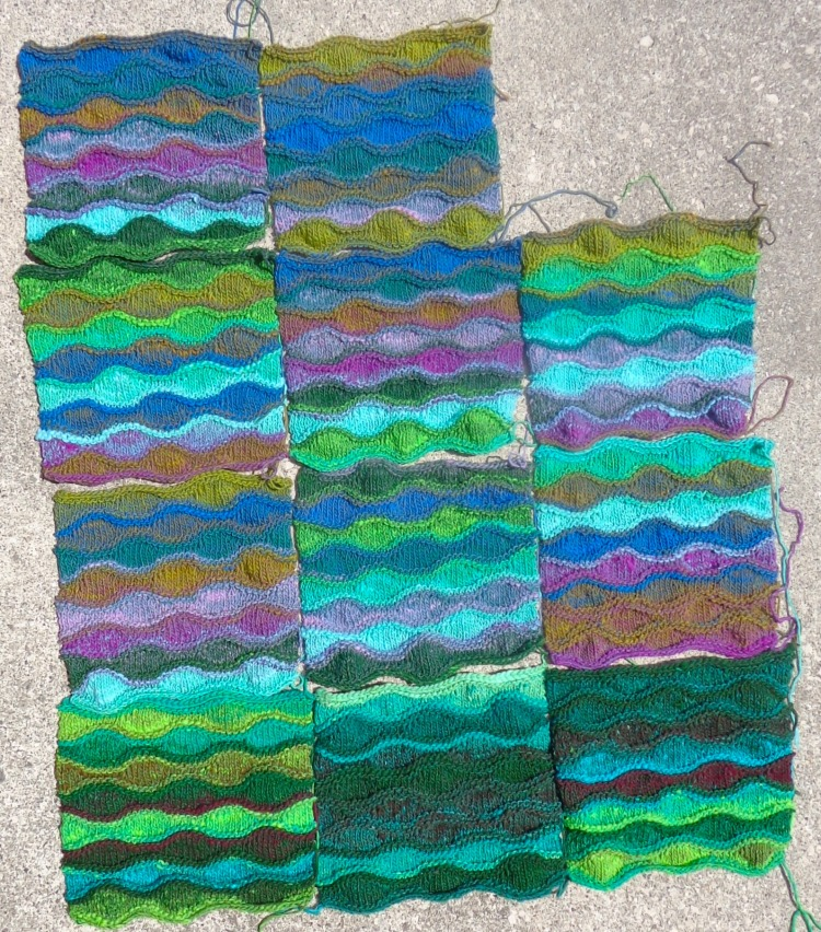 Lizard's Ridge knitted by Deborah Cooke in Noro Kureyon