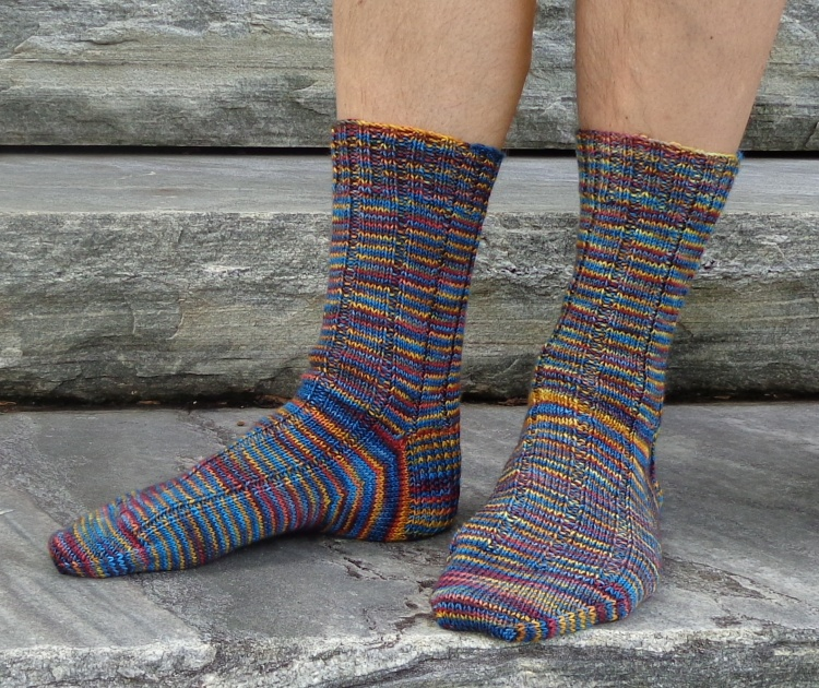 Socks knit in Fleece Artist Trail Socks by Deborah Cooke