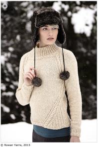 Ewden, designed by Sarah Hattan in Rowan Alpaca Merino DK