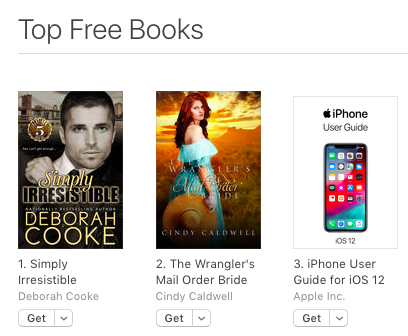 Simply Irresistible, #1 free overall in the iBooks store on September 22, 2018