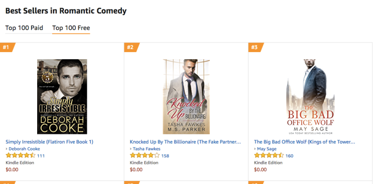 Simply Irresistible at #1 in Romantic Comedy in the Kindle store on September 22, 2018