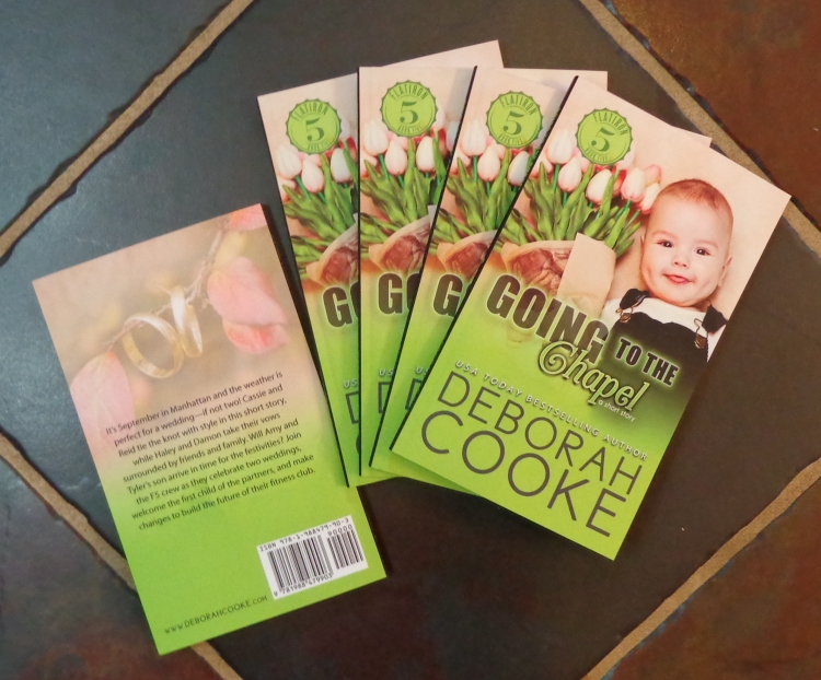 Going to the Chapel, book #5 of the Flatiron Five series of contemporary romances by Deborah Cooke, in its print edition