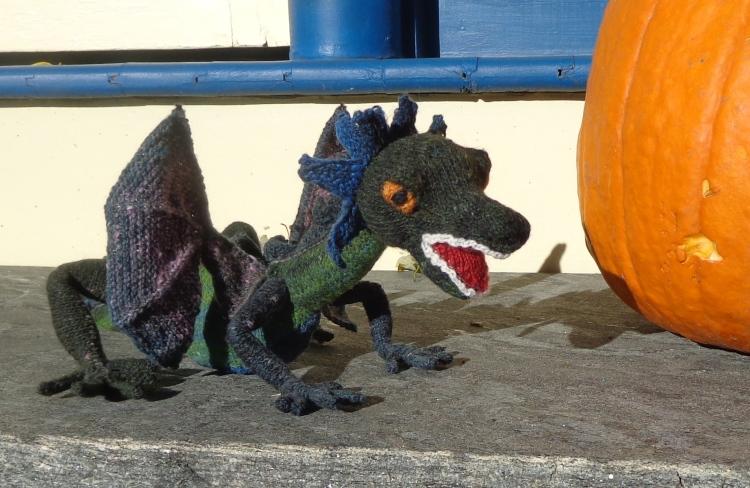 Doughty Dragon knit by Deborah Cooke in Noro Kureyon Sock
