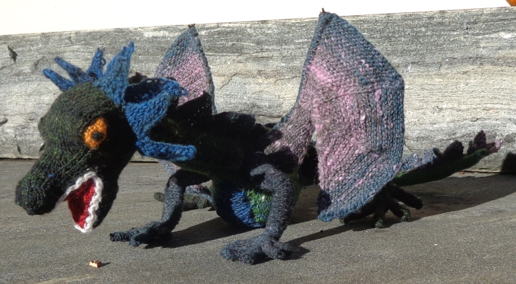 Doughty Dragon knit by Deborah Cooke in Noro Kureyon Sock