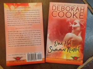 One Hot Summer Night, book #3 of the Secret Heart Ink series of contemporary romances by Deborah Cooke, in print
