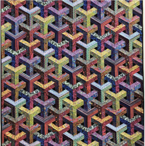 Escher quilt, designed by Christopher Weinhold