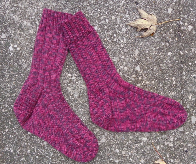 Socks knit of Diamond Sock Yarn by Deborah Cooke