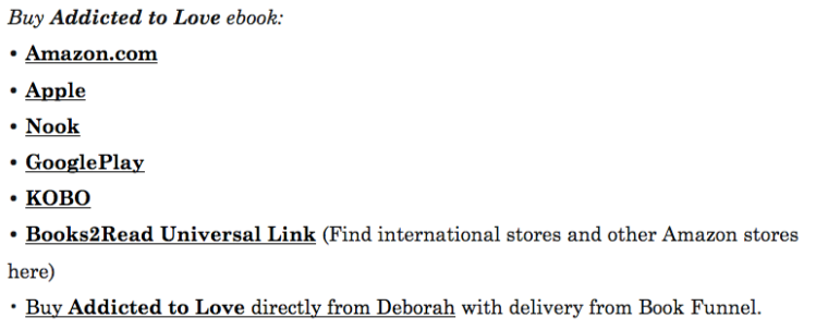 buy links for Addicted to Love by Deborah Cooke